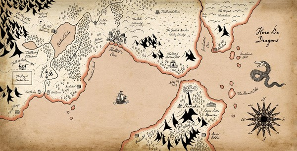 here be dragons map